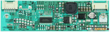 17CON08-2, 23042863, 17CON08-2 V1, 160212, LED Driver Board, LC215EUE-TEA1, 6091L-1797A, TOSHIBA 22BL712G