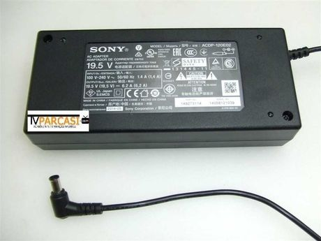 Sony Adaptör, ACDP-120E02, Adapter PS 19.5V 6.2A AC/DC Cable LED TV