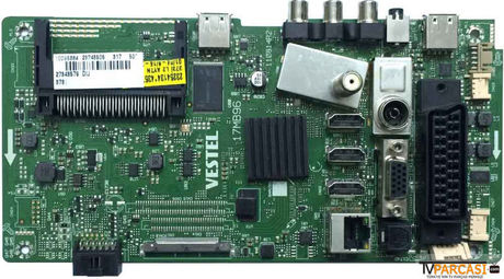 23246505, 23254134, 17MB96, 110814R2, Main Board, VES500UNVA-2D-S02, 23198674, VESTEL SMART 50FA7500 50 LED TV