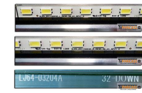 LJ64-03204A, 32-DOWN, LJ07-00929A, SLED_2011SGS32_R_5630_36_H1_REV1.0, SLED_2011SGS32_L_5630_36_H1_REV1.0, LED Backlight, Samsung, LTA320HW01, LTA320HN03, Toshiba 32RL933